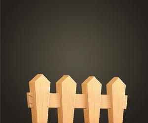 Clôture en bois simple