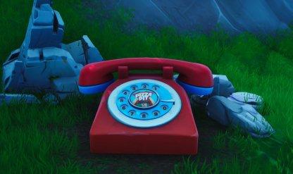 Gros téléphone pour appeler le numéro de Pizza Pit Image