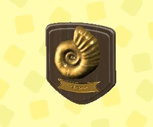 Plaque fossile