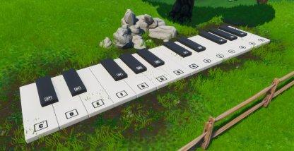 Emplacement du Big Piano - Gros plan au sud-est du Lonely Lodge