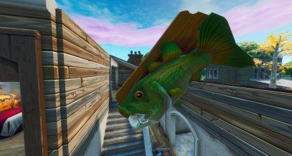 Emplacement du trophée du poisson dansant géant - au sud du Mega Mall Close Up