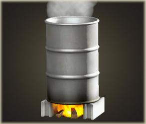 Baignoire à baril de pétrole