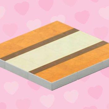 Plancher de mariage brun