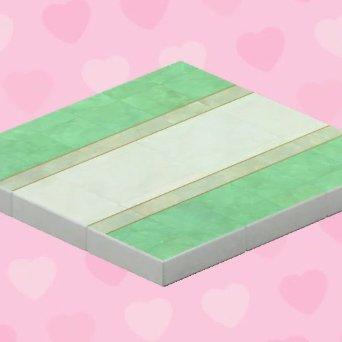 Plancher de mariage vert