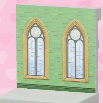 Mur de mariage vert