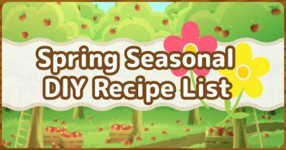 ACNH   Recettes de bricolage saisonnières du printemps – Liste de meubles à durée limitée   Animal Crossing New Horizons