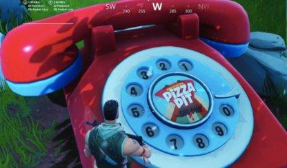 Composez le numéro de Pizza Pit sur le grand téléphone (semaine 8)