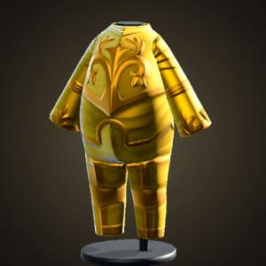 Armure en or