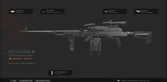 【Warzone】 Hedgerow LMG Blueprint – Statistiques et comment obtenir 【Call of Duty Modern Warfare】 – JeuxPourTous