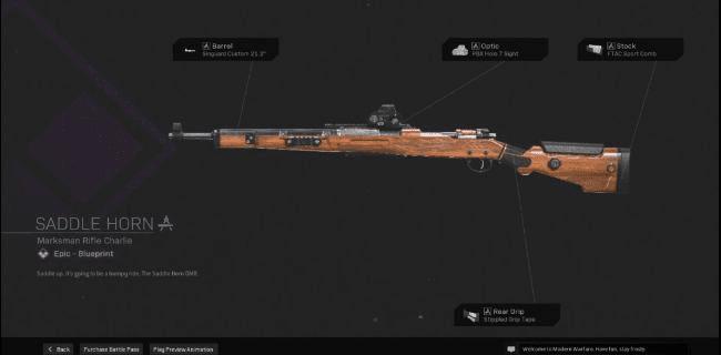 【Warzone】 Saddle Horn Marksman Rifle Blueprint – Statistiques et comment l'obtenir 【Call of Duty Modern Warfare】 – JeuxPourTous