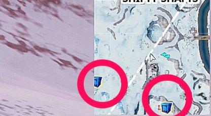 Vérifiez la mini carte pour les emplacements de livraison