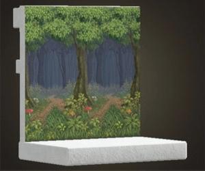 Mur de la forêt aux champignons