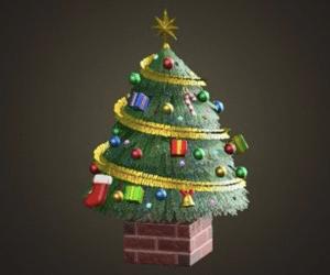 Grand arbre festif
