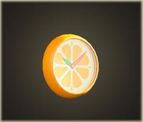 Horloge murale orange
