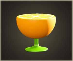 Table de bout orange