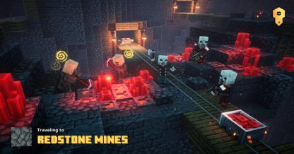 Première rencontre dans les mines de Redstone