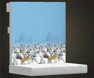 Mur de tas d'ordures