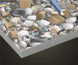 Plancher de tas d'ordures