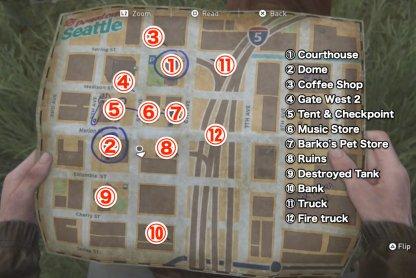 Carte du centre-ville de Seattle