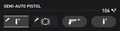 Statistiques du pistolet semi-automatique