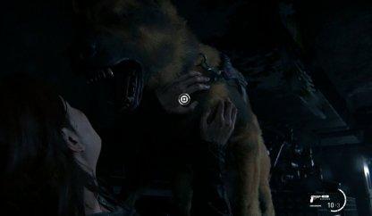 Embusqué par un chien après avoir rampé par l'évent