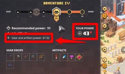Les gouttes dépendent du niveau de puissance