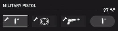 Statistiques du pistolet militaire