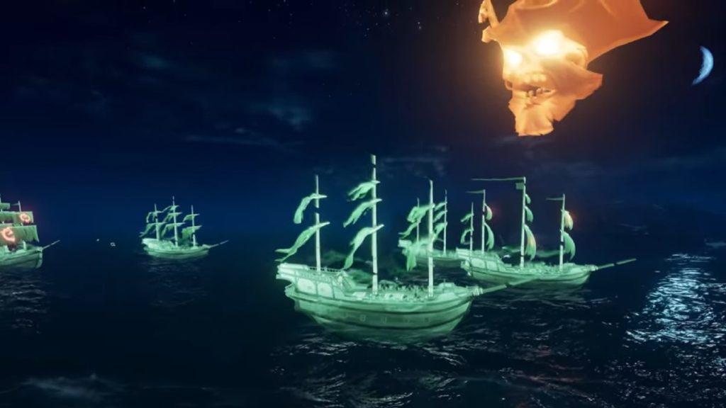 Des navires fantômes arrivent à Sea of Thieves