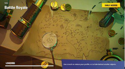 Rechercher où le couteau pointe sur l'écran de chargement de la carte au trésor
