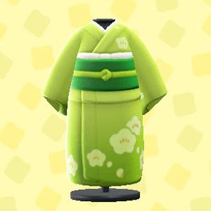 Kimono à motif prune