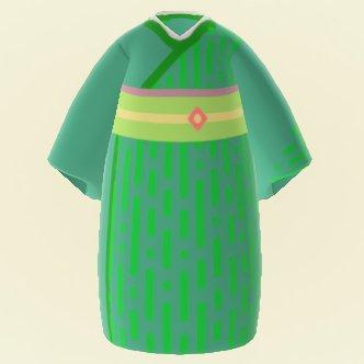 Jeune kimono en bambou de printemps