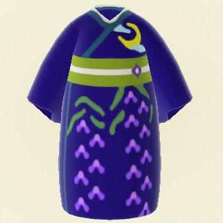 Kimono de soirée glycine