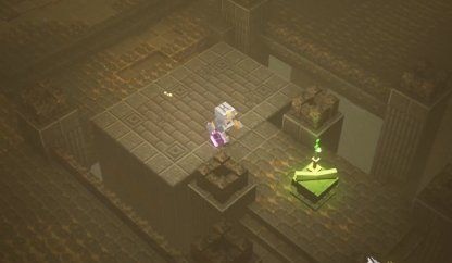 Cliquez sur le défilement de l'emplacement pour déverrouiller le temple inférieur