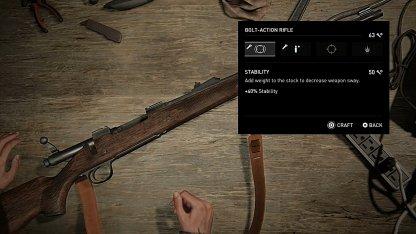 Utiliser des pièces pour améliorer les armes