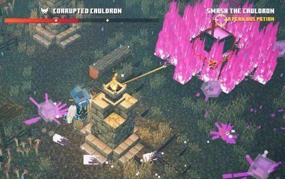 Minecraft Dungeons | Chaudron corrompu – Guide du boss et comment battre