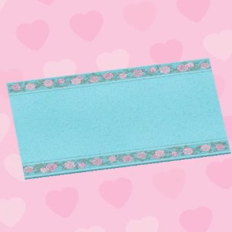 tapis de mariage bleu