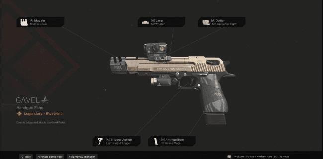 【Warzone】 Gavel Handgun Blueprint – Statistiques et comment l'obtenir 【Call of Duty Modern Warfare】 – JeuxPourTous