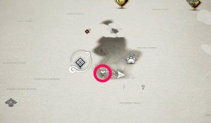 Emplacement de Fox Den marqué sur la carte