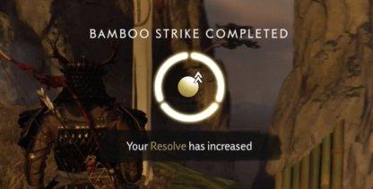 Frappe en bambou terminée