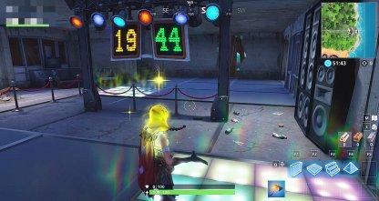 Dansez sur des carrés lumineux pour gagner des points