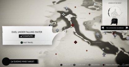 Duel sous l'eau qui tombe