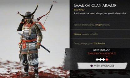 Armure de clan de samouraï