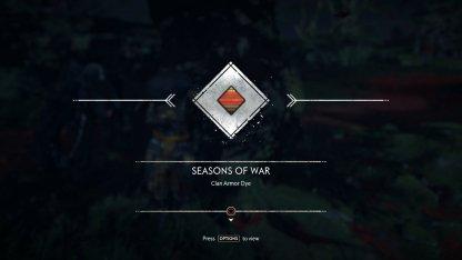 Recevoir la teinture d'armure Seasons of War