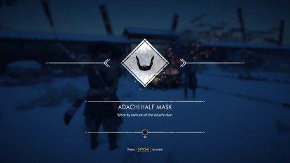 Recevoir le demi-masque d'Adachi