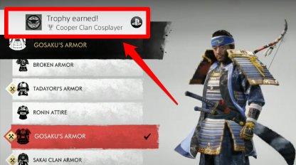 Débloquer le trophée de cosplayeur du clan Cooper