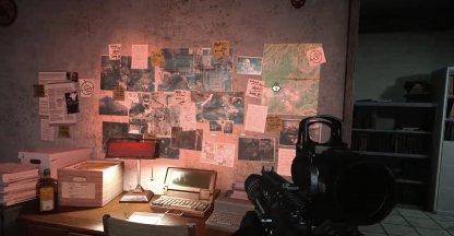 indices à l'intérieur de la cabane de la station de télévision