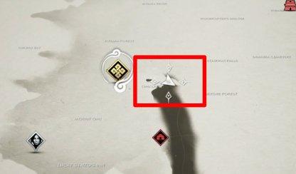 La malédiction d'Uchitsune sur la carte