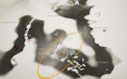Emplacement de la carte de montagne Hiyoshi