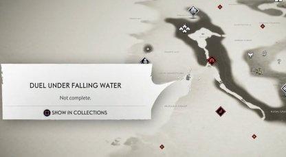 Emplacement de la carte Duel Under Falling Water
