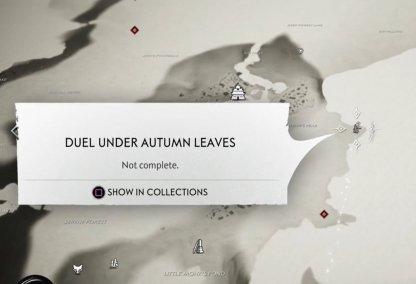 Duel sous les feuilles d'automne sur la carte